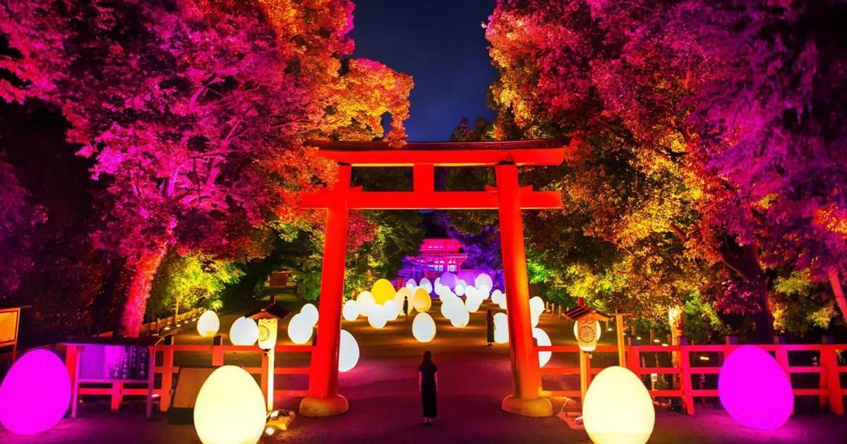 【期間限定】京都景點:2019京都下鴨神社糺の森の光の祭典 x teamLab