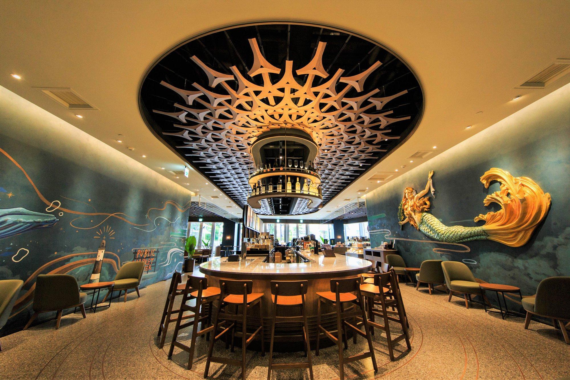 【台灣星巴克特色門市】高雄夢時代指標型旗艦店:海洋般奇幻的咖啡旅程