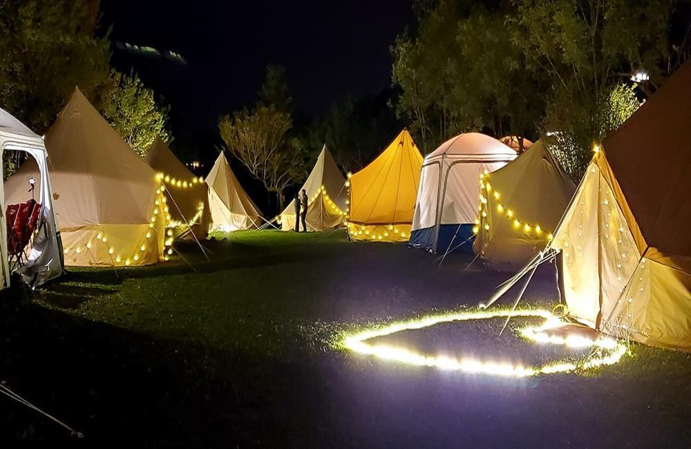 苗栗露營,黃金梯田露營地,黃金梯田免裝備風格露營