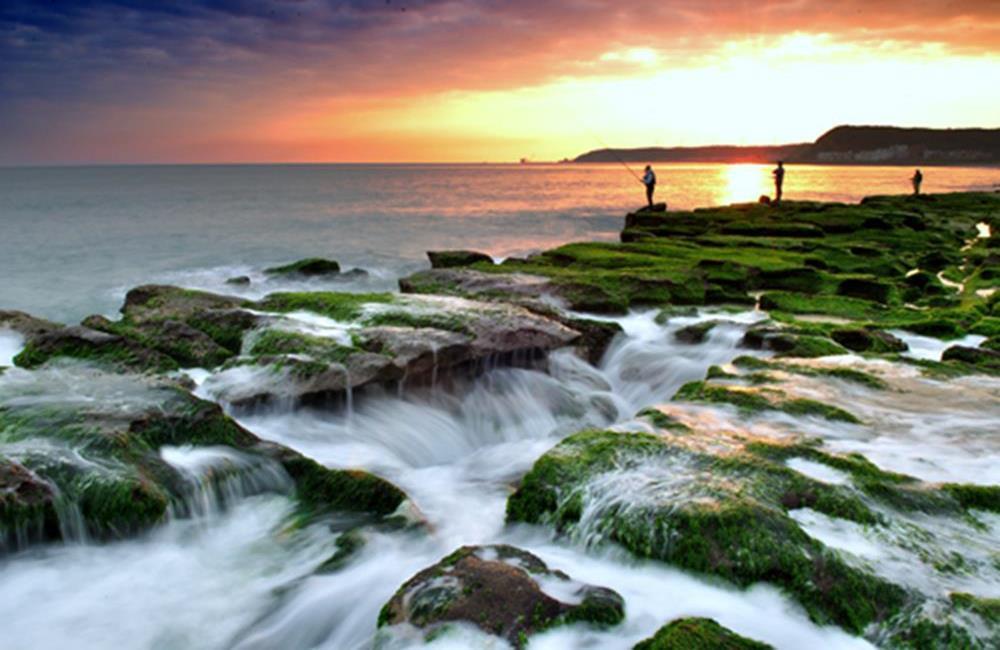 老梅石槽交通 老梅石槽海岸步道 老梅沙灘